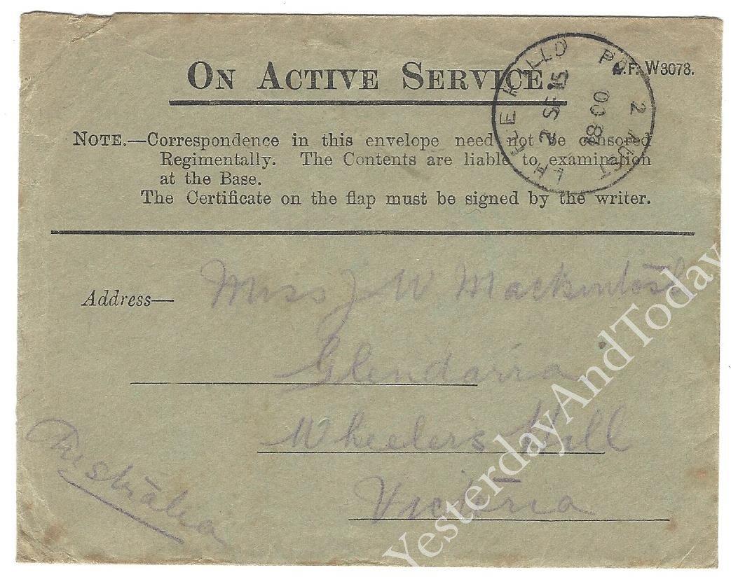 WW1 Postal History